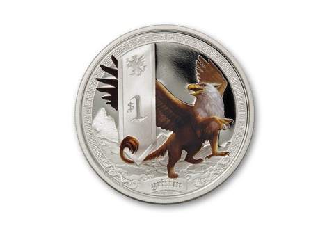 Tuvalu 1 Dollar Silver Griffin Proof