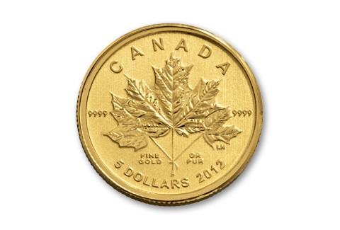 2017 Canada 5 Dollar Gold Maple Leaf Forever Coin