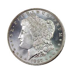 1887 Morgan Silver Dollar Silver Price - United States