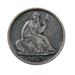 1837 Seated Liberty Dime