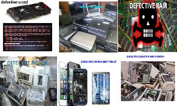 Buying all scrap or defectives laptop, desktop, ram, video card, cellphones, tablets, printer