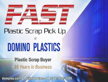 Prompt pickup for plastic scrap