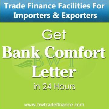 Bank Comfort Letter for Importers & Exporters | Bronze Wing Trading L.L.C.
