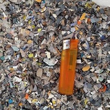 pvc foglia macinato floreale mixed color Basplastic di P. Bas Pordenone Udine Pvc e Pet foglia macinato regrind sheet