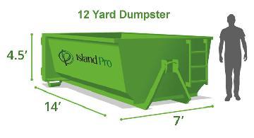 12 Yard Standard Dumpster