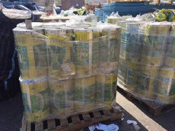 Plastic waste printed / laminated