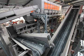 Industrial waste recycling plant