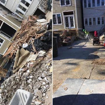 Construction debris removal - construction waste  disposal
