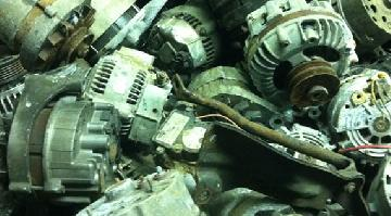 Alternators are found in cars, trucks and other vehicles. It contains wound copper wire inside it.