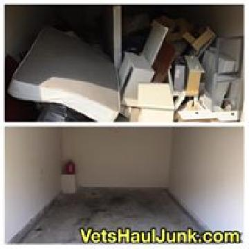Before and after junk removal job