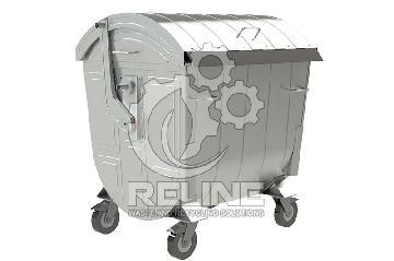 Galvanized Wheelie Bins