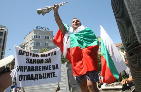 Metal scrap dealers stage protest against Waste Management Act in Bulgaria