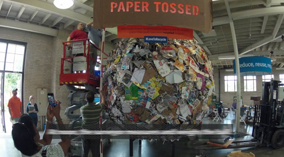 Minnesota recycles world's largest paper ball after making Guinness entry