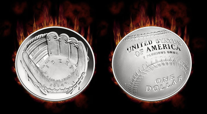No More 2014 Baseball Hall of Fame Silver Dollars for Sale