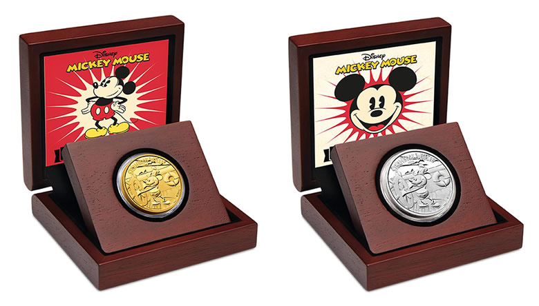 Perth Mint's New Mickey Mouse Gold, Silver Coins to Allure Coin Lovers