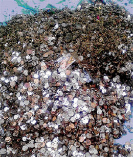 10 Bags of Coins Recovered From Temple Pond