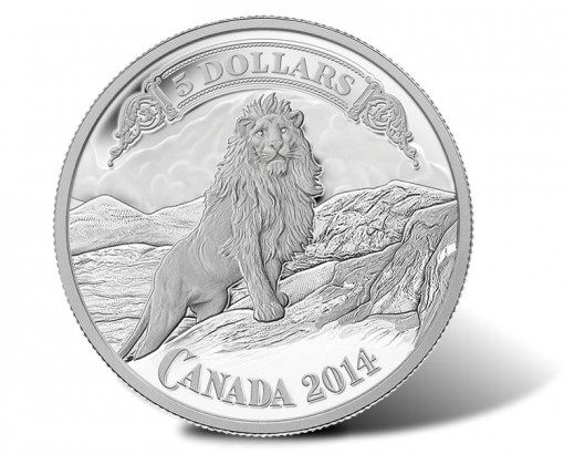Royal Canadian Mint Introduces 2014 $5 Lion on the Mountain Silver Coin