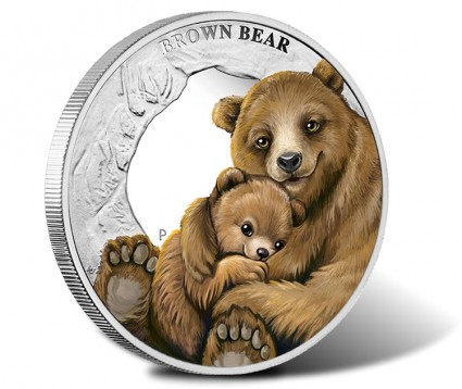 Perth Mint Introduces 2014 Brown Bear Silver Coin to Mother's Love Series