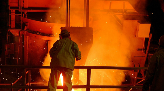 Europe's crude steel production declined in February