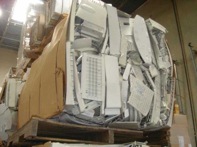 Transparent ABS Computer bales scrap.