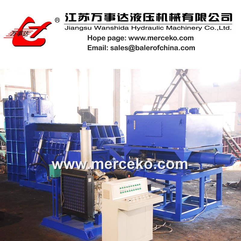 Scrap Shear Press with Diesel engine