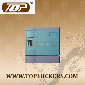 Six Tier Office Lockers ABS Plastic Blue