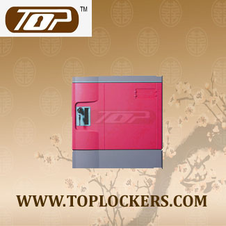 Six Tier School Lockers ABS Plastic Fuchisia