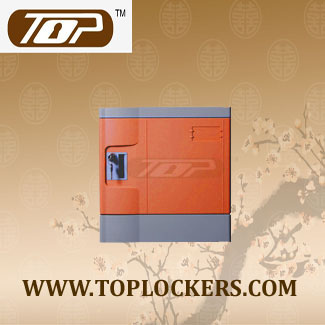 Six Tier Club Lockers ABS Plastic Orange
