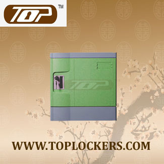 Six Tier Beach Lockers ABS Plastic Green