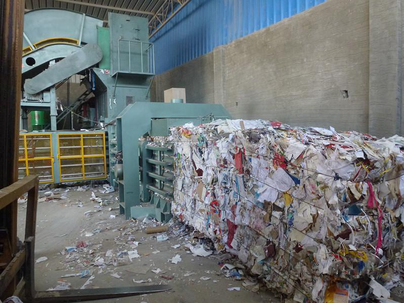 automatic paper baling machine