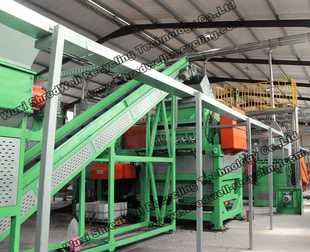 Reliable SHREDWELL automatic tire recycling system