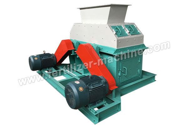 Grinding Equipment Fertilizer : Horizontal double shaft chain fertilizer crusher