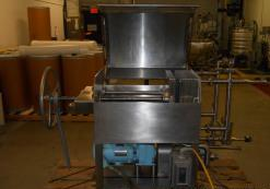 Used- Erkle 5 Plate Filter Press. 316L Explosion Proof, Waukesha Cherry-Burrell pump with sanitary f