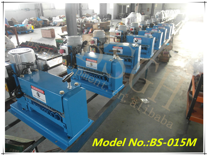 Bs 2 scrap electric cable wire stripping machine with ce for Electric motor recycling machine