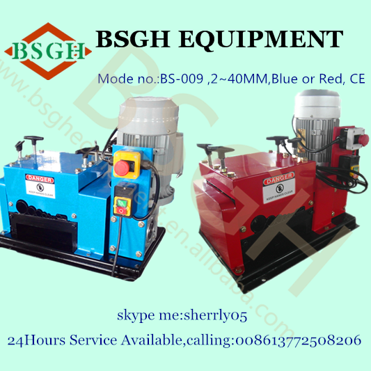 BS-009 automatic scrap electric wire stripping/peeling machine MIC