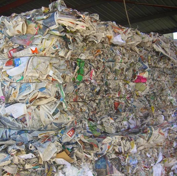 waste paper and waste plastic scrap