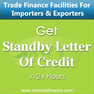Avail Standby Letter of Credit for Importers & Exporters