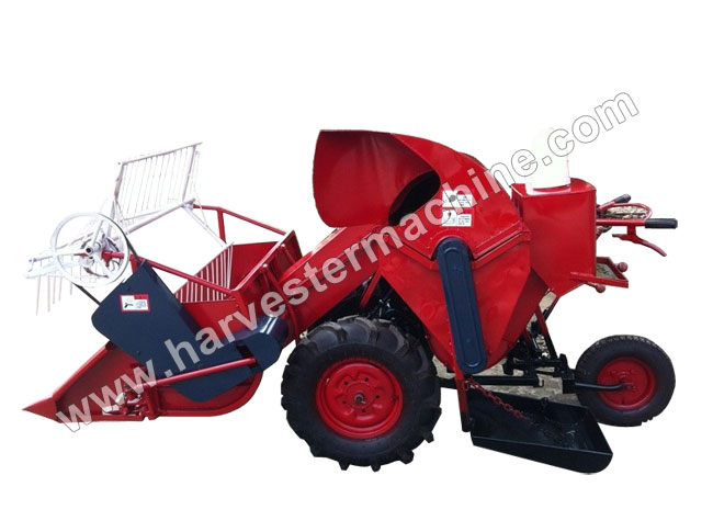 Walking Type Small Rice/Wheat Combine Harvester
