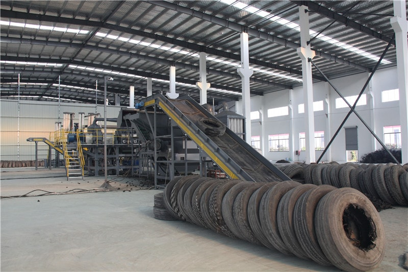 Tire recycling machine 9 tire granulators equipment for Tractor tire recycling