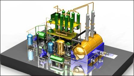 Tyre Pyrolysis Oil Distillation Plant