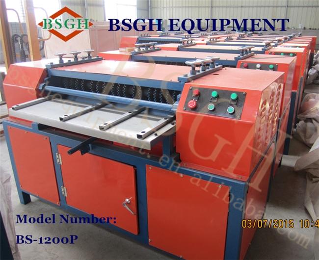 BS-1200P air conditioner radiator stripper machine ,car radiator stripping machine