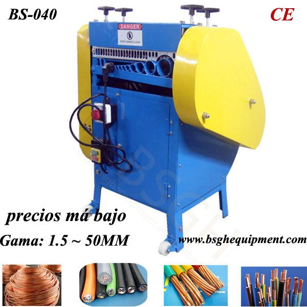 BS-040 scrap cable wire stripper machine for strip pvc