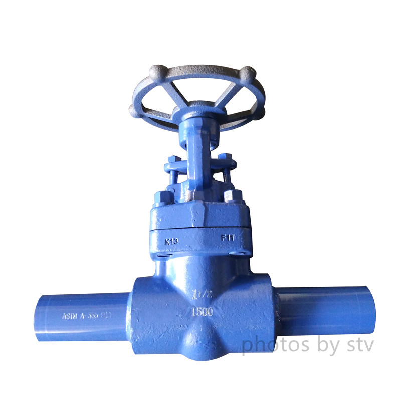 API 602 F11 Globe Valve, BW End With Nipple, DN40,1500LB