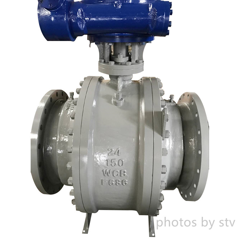 "Ball Valve Full Bore Trunnion Mounted Ansi 150# ,RF ,24"" Carbon Steel, Gear Box"