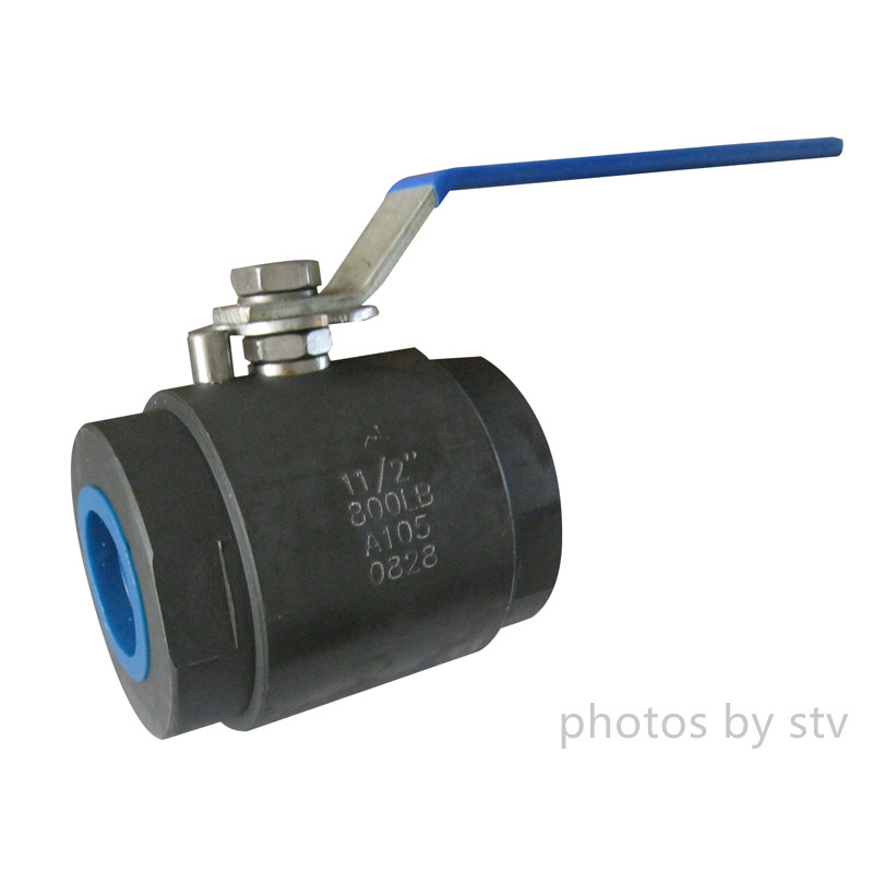 Forged Steel Floating Ball Valve, ASTM A105, NPT, 800LB,Peek Seat