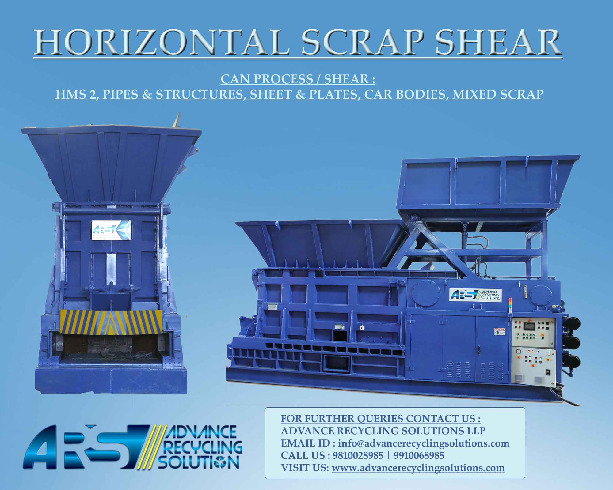 Horizontal Shear for MS Scrap