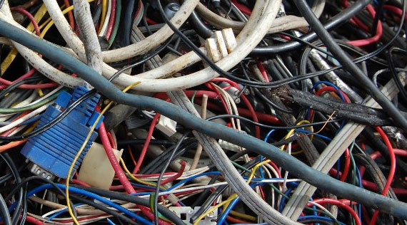 3 Insulated Copper Wire Scrap Image